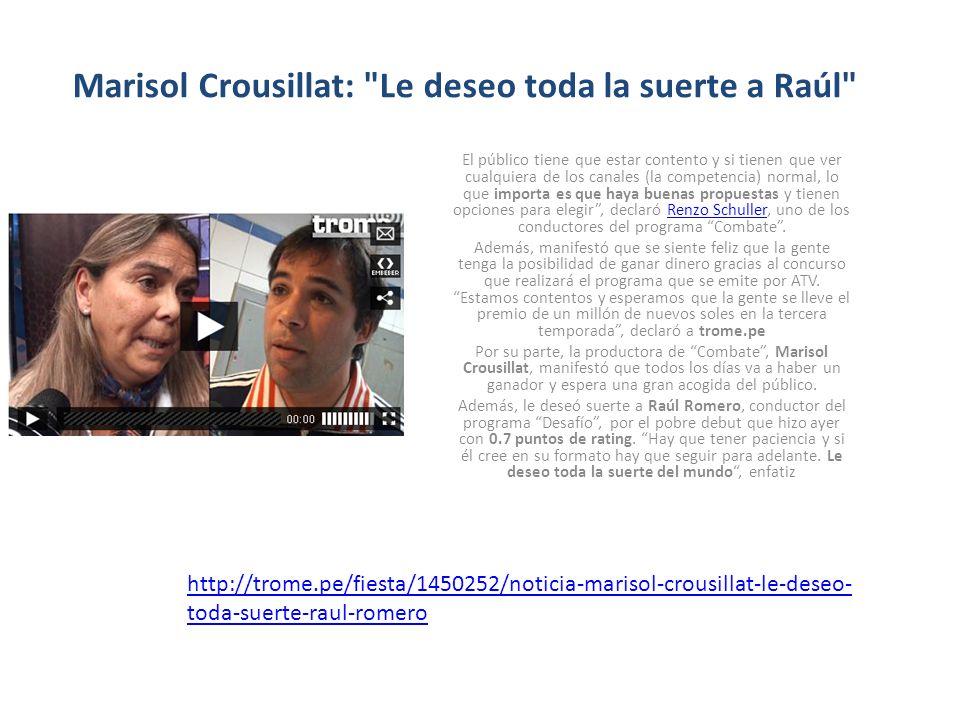Marisol Crousillat:
