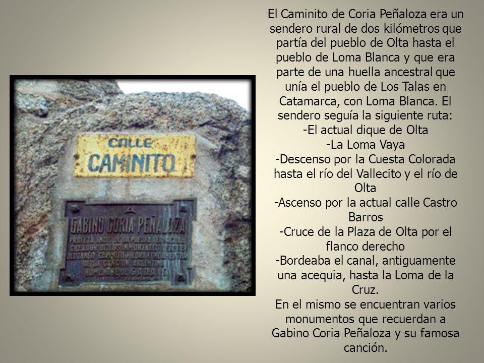 La esquina de Caminito y Buenos Aires, en Chilecito (La Rioja) El 19 de febrero de 1971, en la localidad de Chilecito (provincia de la Rioja), Gabino