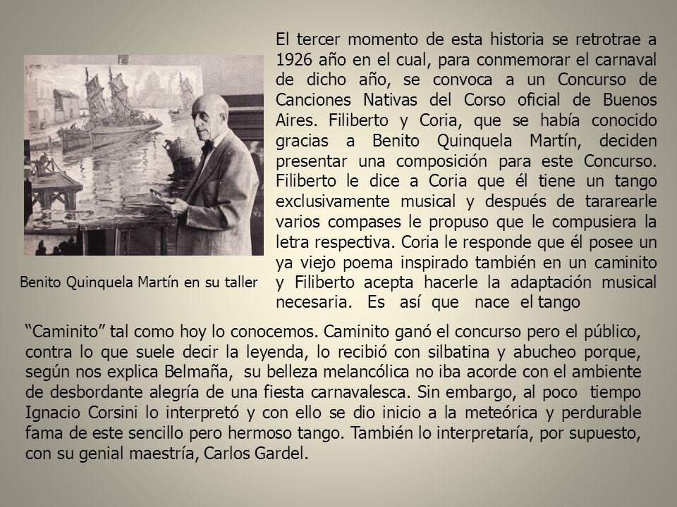 Juan de Dios Filiberto La segunda etapa de esta historia data de 1923, año en el cual nace el tango Caminito obra del músico boquense Óscar Juan de Di