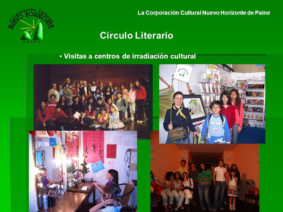 La Corporación Cultural Nuevo Horizonte de Paine Círculo Literario Visitas a centros de irradiación cultural
