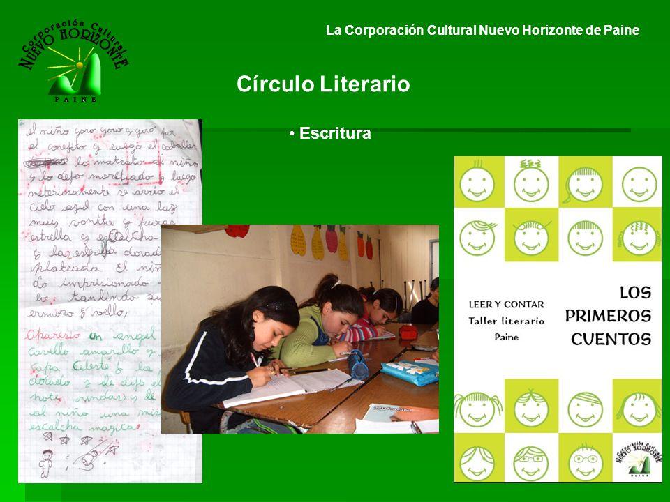 La Corporación Cultural Nuevo Horizonte de Paine Círculo Literario Escritura