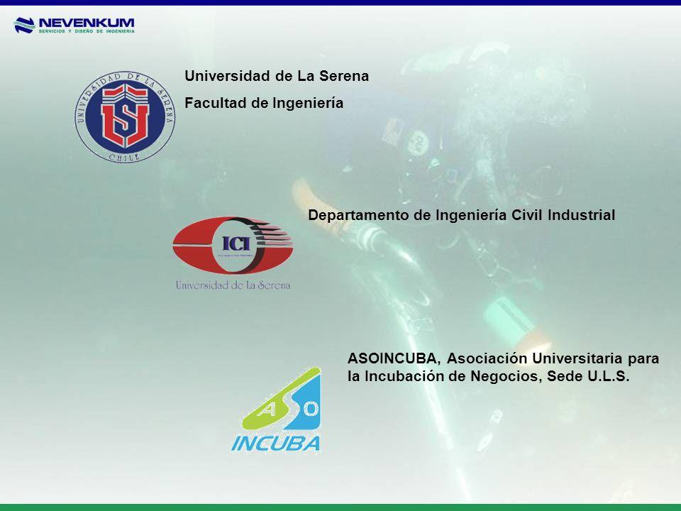 Universidad de La Serena Facultad de Ingeniería ASOINCUBA, Asociación Universitaria para la Incubación de Negocios, Sede U.L.S. Departamento de Ingeni