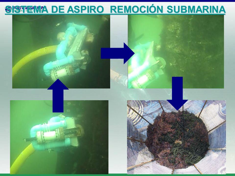 SISTEMA DE ASPIRO REMOCIÓN SUBMARINA SISTEMA DE ASPIRO REMOCIÓN SUBMARINA