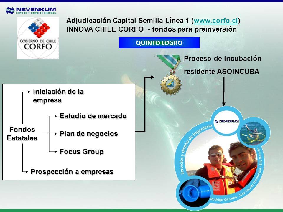 Adjudicación Capital Semilla Línea 1 (www.corfo.cl)www.corfo.cl INNOVA CHILE CORFO - fondos para preinversión Fondos Estatales Iniciación de la empres
