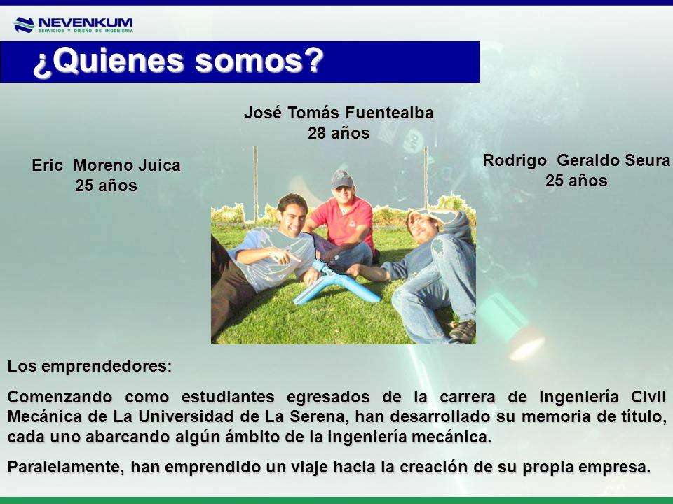 Los emprendedores: Comenzando como estudiantes egresados de la carrera de Ingeniería Civil Mecánica de La Universidad de La Serena, han desarrollado s