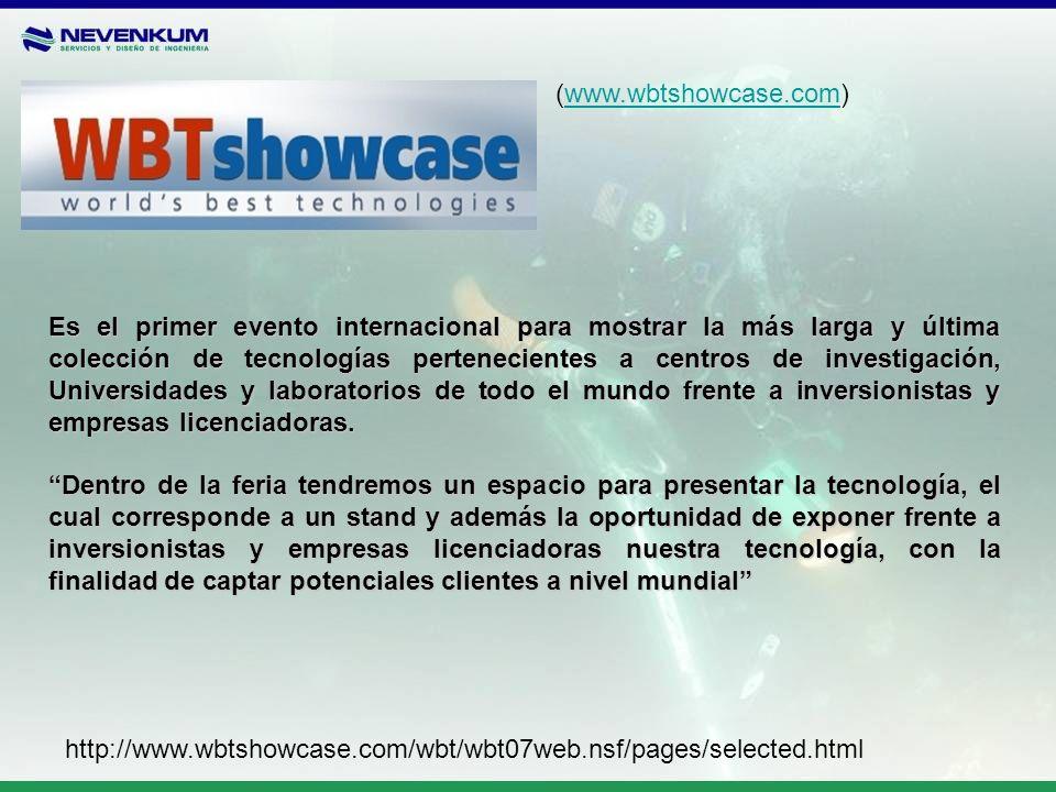 Es el primer evento internacional para mostrar la más larga y última colección de tecnologías pertenecientes a centros de investigación, Universidades