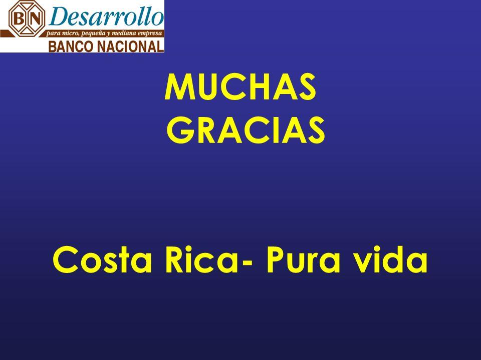MUCHAS GRACIAS Costa Rica- Pura vida