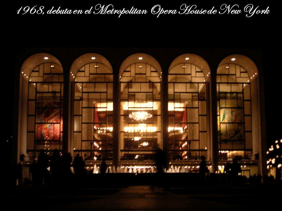 En 1967 debuta en San Francisco y en 1968, en el Metropolitan Opera House de Nueva York, donde realiza la proeza de cantar nueve do agudos en un aria de La fille du régiment, le vale una portada de la revista Time a free PPS by: Vi ta no ble