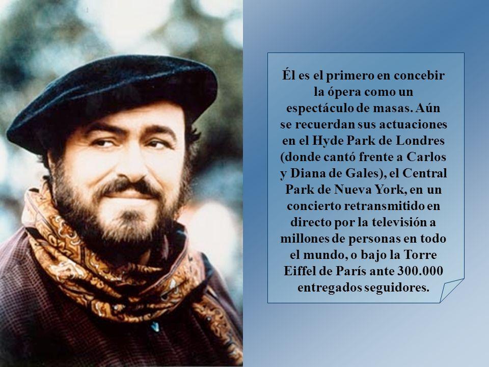 Durante la década de los ochenta y a principios de los noventa, Pavarotti se hizo popular en todo el mundo gracias a sus frecuentes recitales populares y colaboraciones con estrellas del pop.