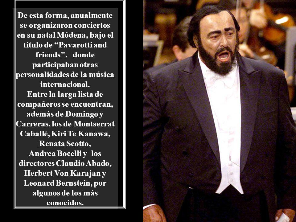 A partir de 1990 y durante varios años seguidos, Pavarotti se implicó activamente con la organización War Child para recaudar fondos para la construcc