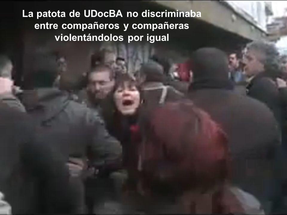 La patota de UDocBA no discriminaba entre compañeros y compañeras violentándolos por igual