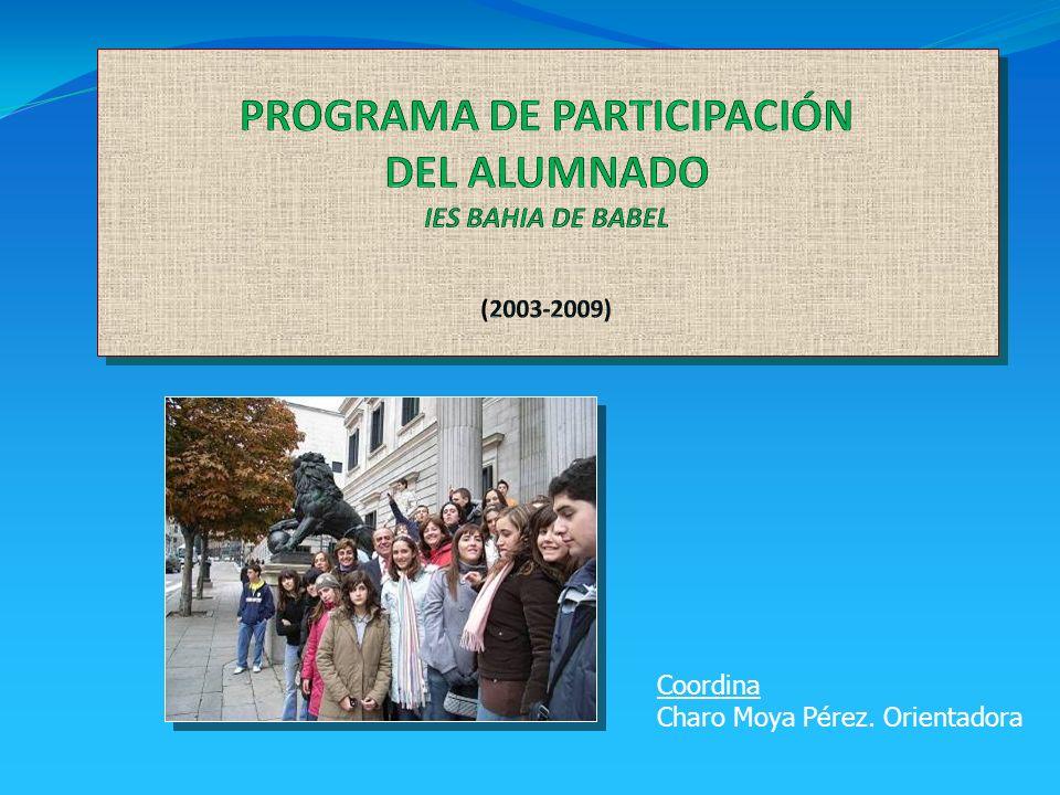 Coordina Charo Moya Pérez. Orientadora