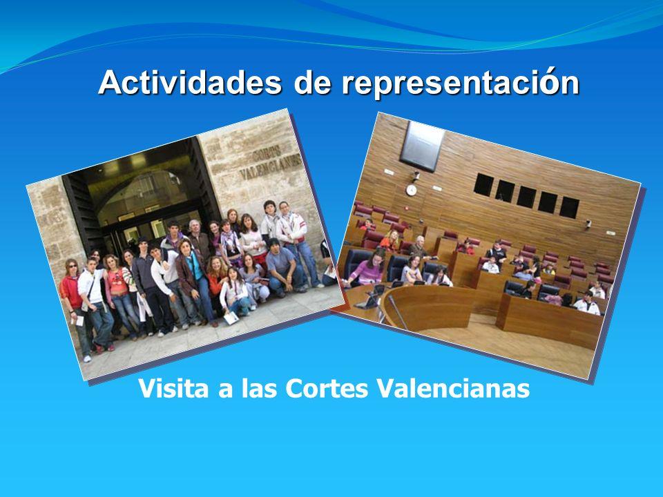 Actividades de representaci ó n Visita a las Cortes Valencianas