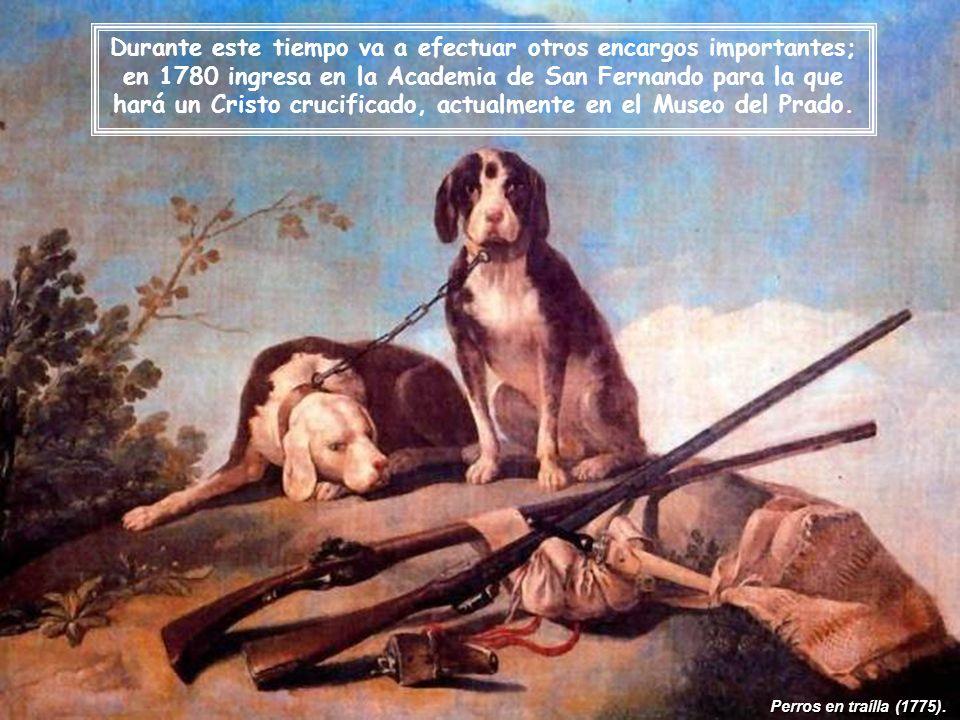 Perros en traílla (1775).