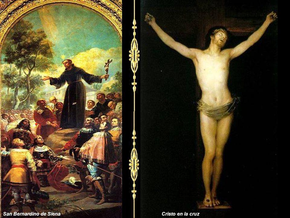 San Bernardino de SienaCristo en la cruz