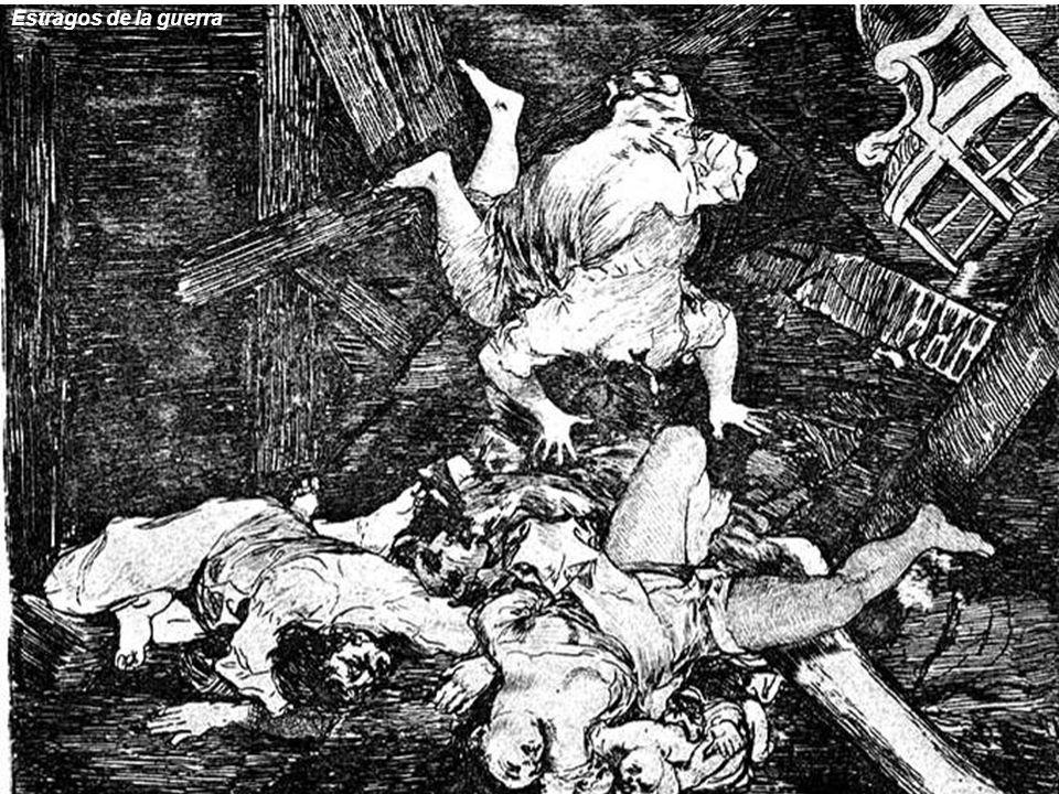 En los grabados, Goya critica la sociedad de su tiempo de una manera ácida y despiadada, manifestando su ideología ilustrada.
