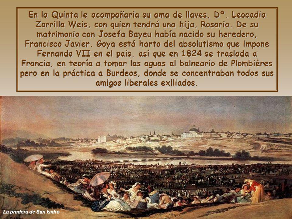 La pradera de San Isidro En la Quinta le acompañaría su ama de llaves, Dª.