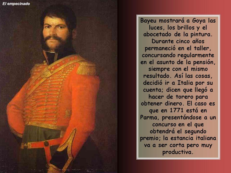 Bayeu mostrará a Goya las luces, los brillos y el abocetado de la pintura.