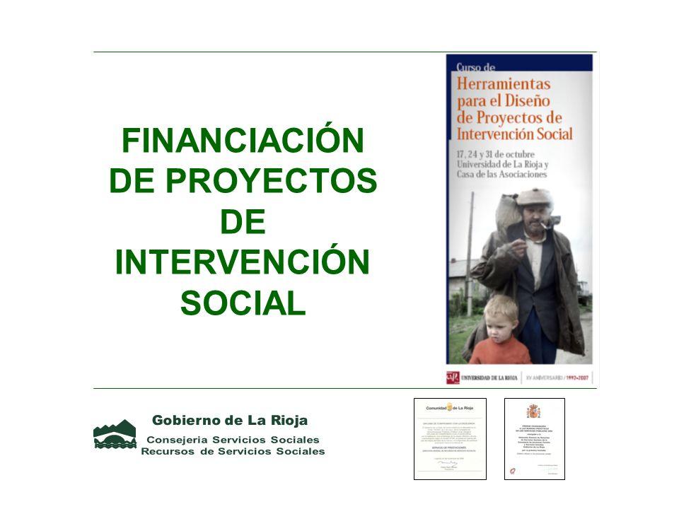FINANCIACIÓN DE PROYECTOS DE INTERVENCIÓN SOCIAL