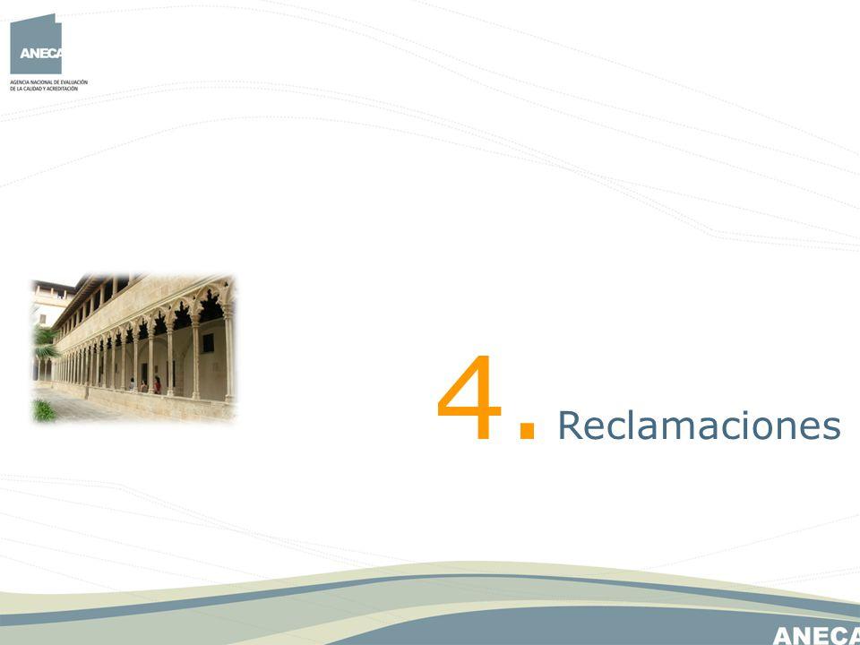 4. Reclamaciones