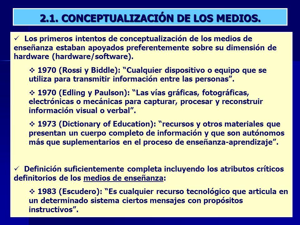 2.1.CONCEPTUALIZACIÓN DE LOS MEDIOS.