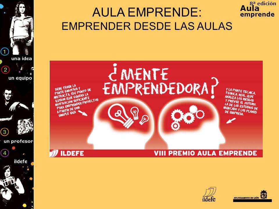 8ª edición Aula emprende AULA EMPRENDE: EMPRENDER DESDE LAS AULAS