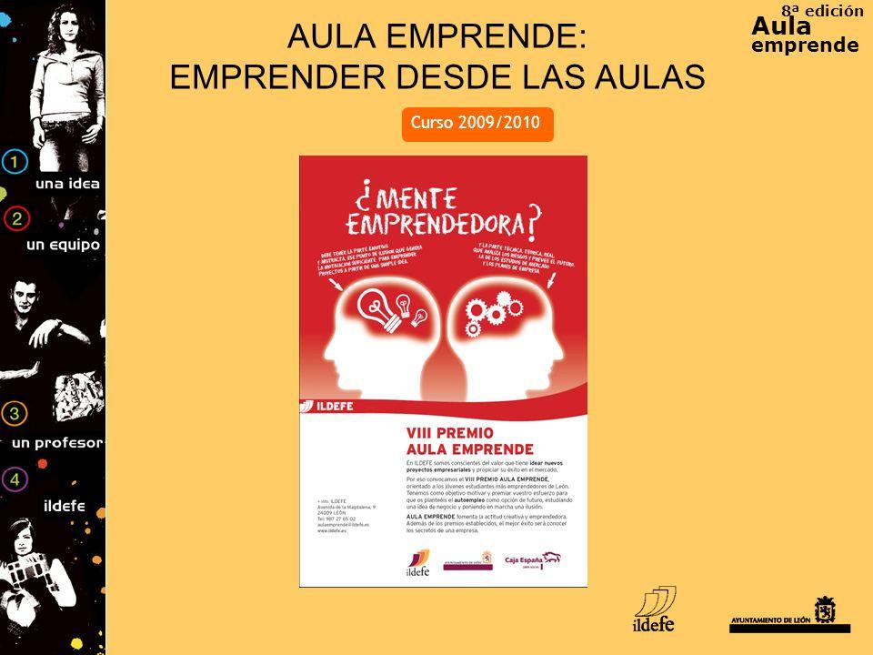 8ª edición Aula emprende AULA EMPRENDE: EMPRENDER DESDE LAS AULAS Curso 2009/2010