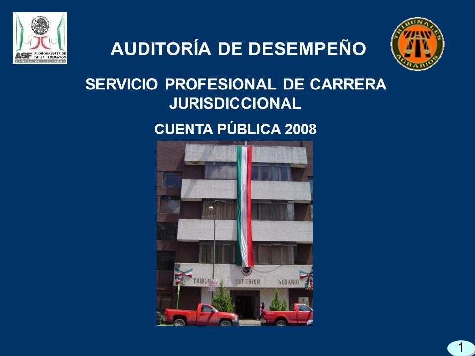 SERVICIO PROFESIONAL DE CARRERA JURISDICCIONAL CUENTA PÚBLICA 2008 AUDITORÍA DE DESEMPEÑO 1
