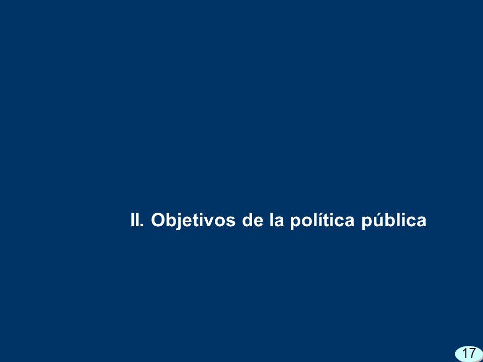 II. Objetivos de la política pública 17