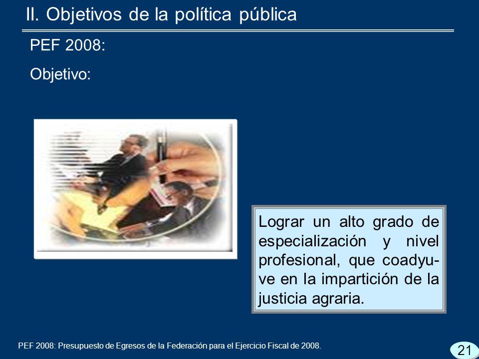 PEF 2008: Presupuesto de Egresos de la Federación para el Ejercicio Fiscal de 2008.