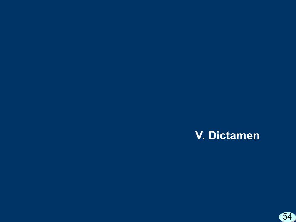 V. Dictamen 54