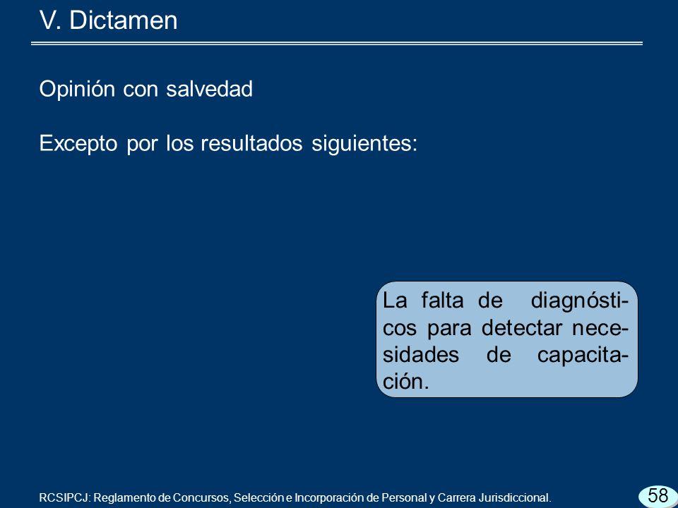 La falta de diagnósti- cos para detectar nece- sidades de capacita- ción.
