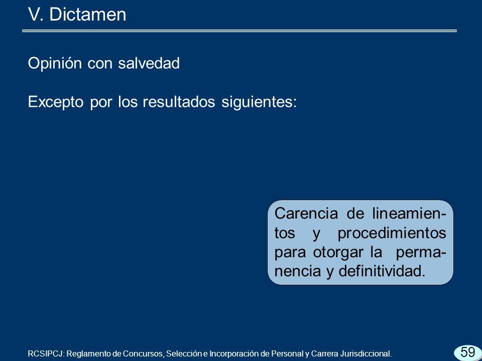 Carencia de lineamien- tos y procedimientos para otorgar la perma- nencia y definitividad.