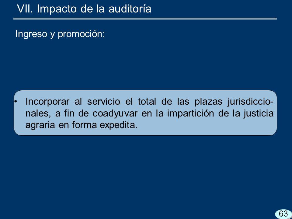 Incorporar al servicio el total de las plazas jurisdiccio- nales, a fin de coadyuvar en la impartición de la justicia agraria en forma expedita.