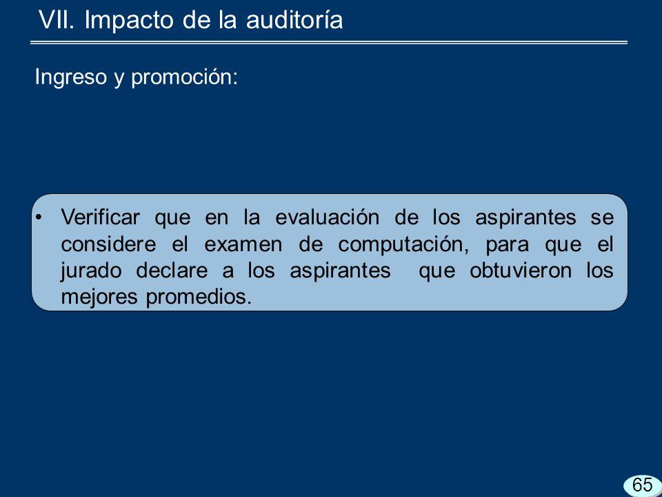 Verificar que en la evaluación de los aspirantes se considere el examen de computación, para que el jurado declare a los aspirantes que obtuvieron los mejores promedios.