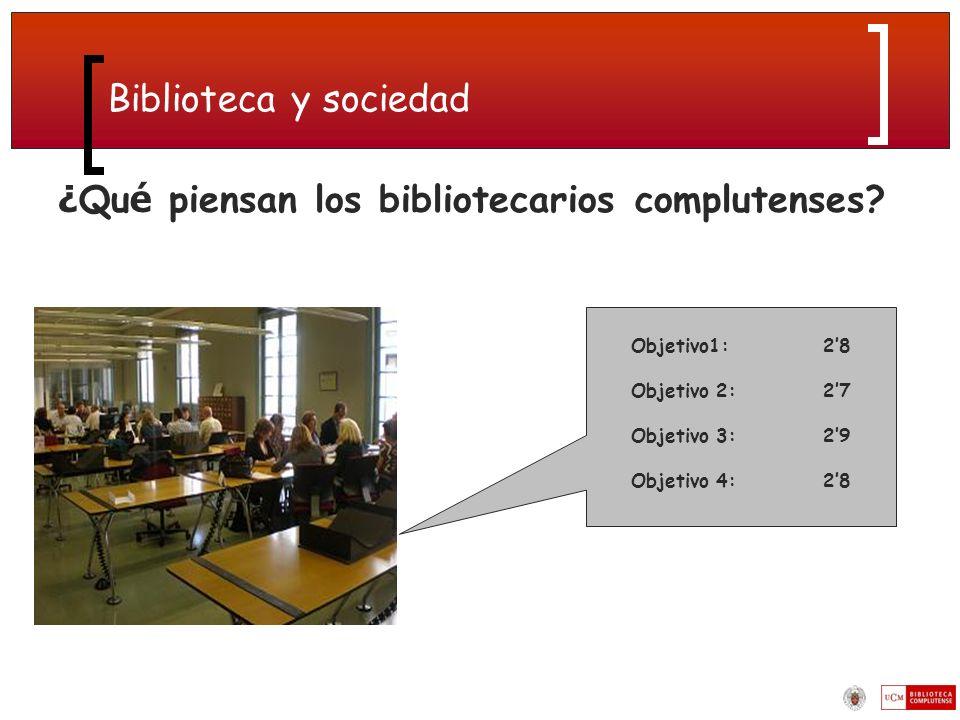 Biblioteca y sociedad ¿ Qu é piensan los bibliotecarios complutenses.