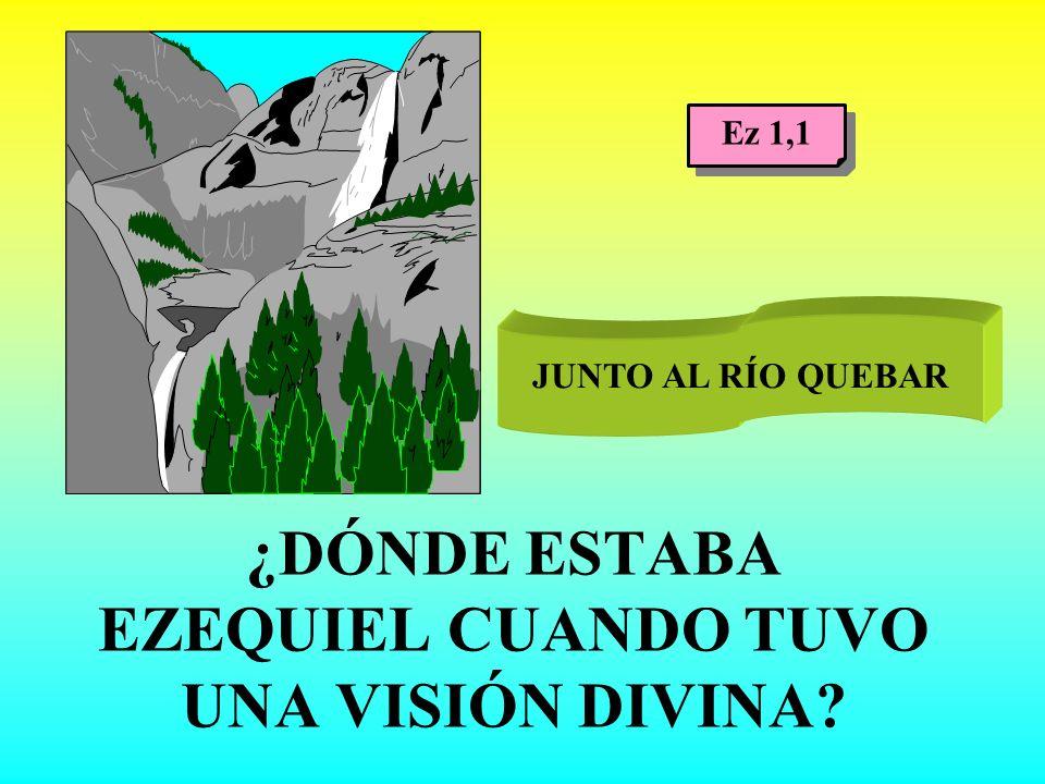 ¿DÓNDE ESTABA EZEQUIEL CUANDO TUVO UNA VISIÓN DIVINA? JUNTO AL RÍO QUEBAR Ez 1,1