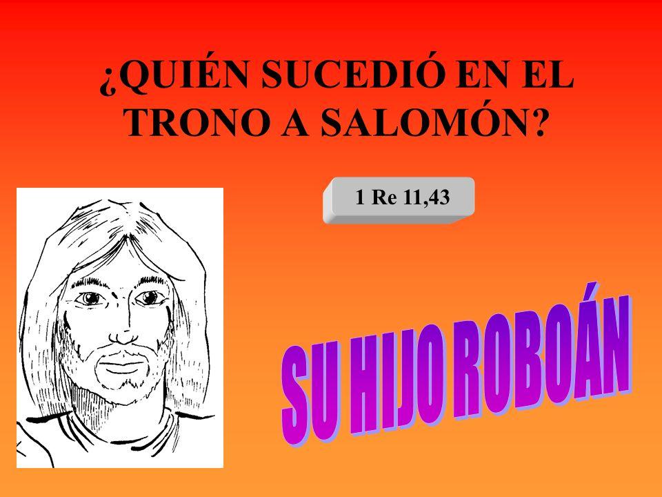 ¿QUIÉN SUCEDIÓ EN EL TRONO A SALOMÓN? 1 Re 11,43