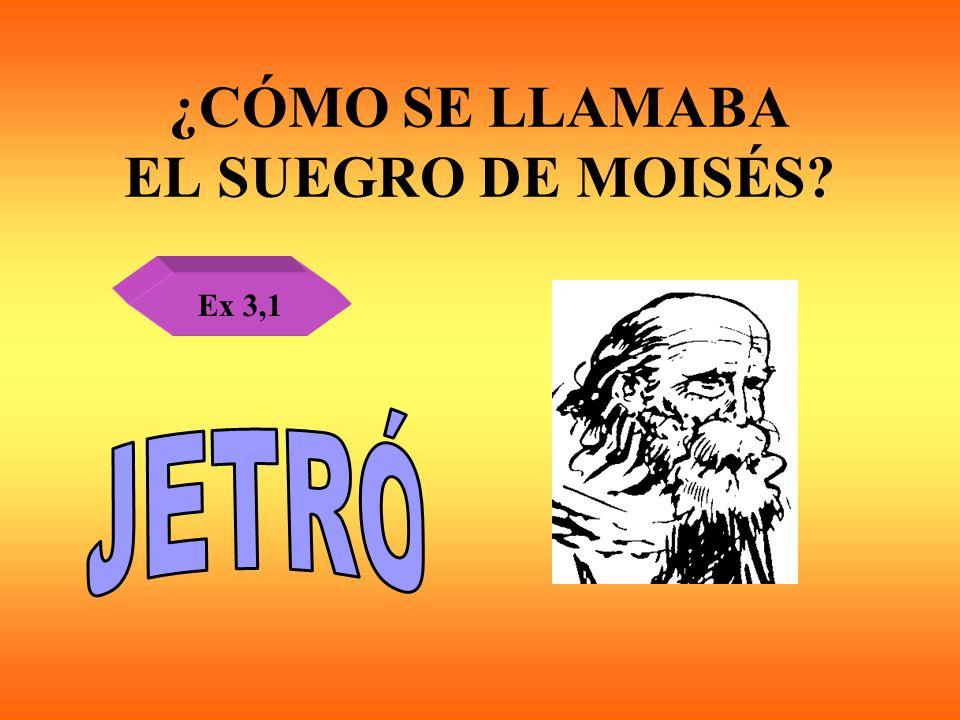 ¿CÓMO SE LLAMABA EL SUEGRO DE MOISÉS? Ex 3,1