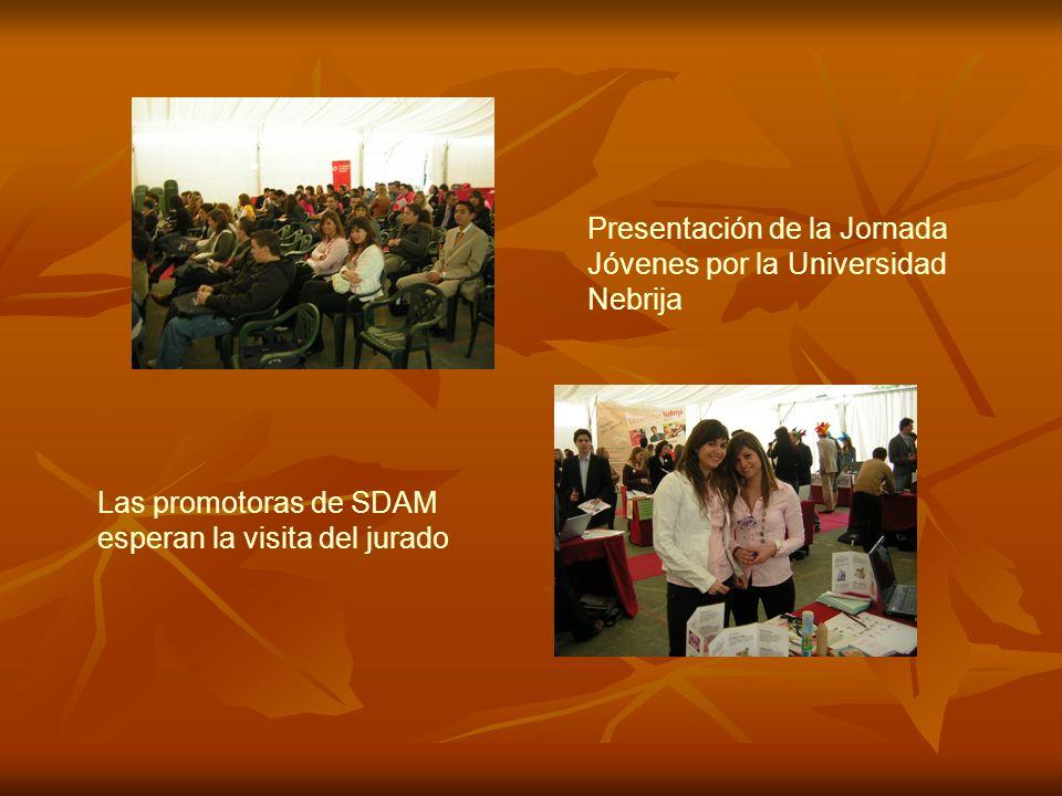 Presentación de la Jornada Jóvenes por la Universidad Nebrija Las promotoras de SDAM esperan la visita del jurado
