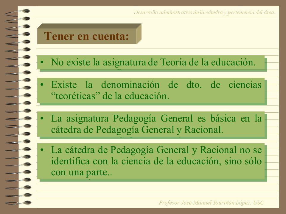 Tener en cuenta: La asignatura Pedagogía General es básica en la cátedra de Pedagogía General y Racional.