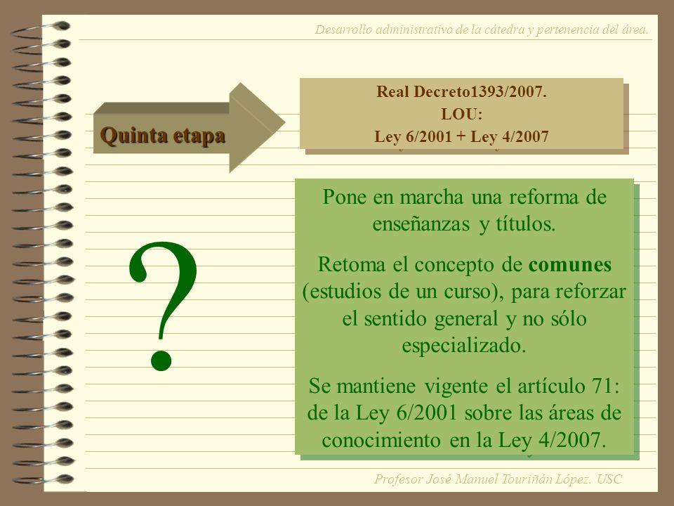 Real Decreto1393/2007. LOU: Ley 6/2001 + Ley 4/2007 Real Decreto1393/2007.