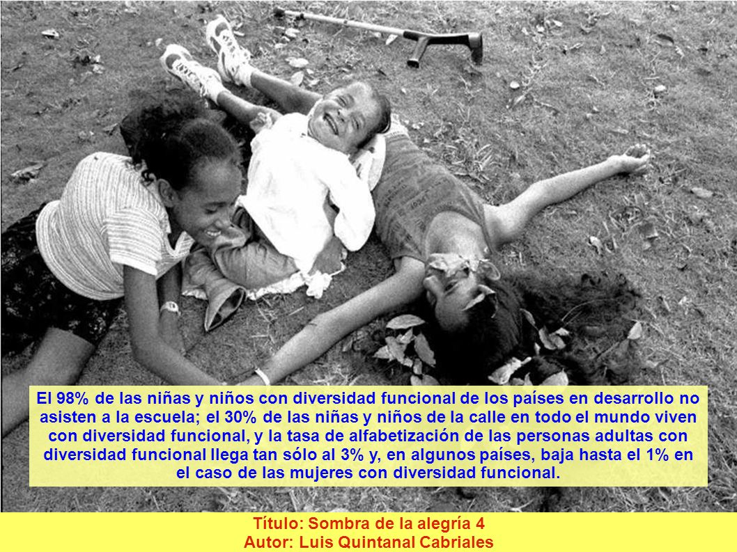 Título: Hermano dauda Autor: Juan Carlos Ruiz Duarte Se calcula que entre las personas más pobres del mundo el 20% está constituido por las que tienen