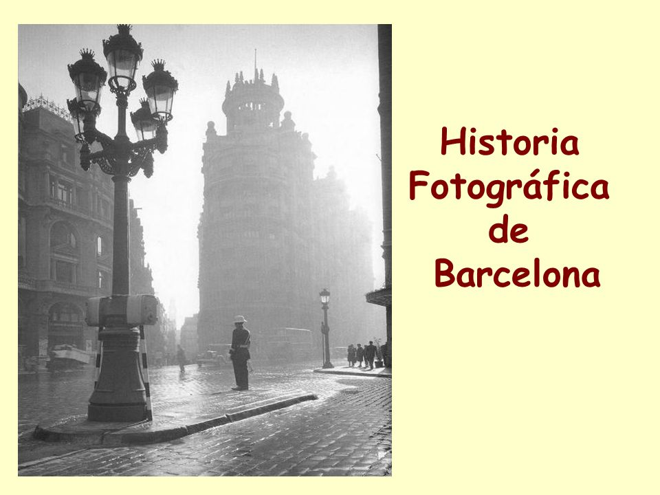 Historia Fotográfica de Barcelona VIA LAYETANA AÑOS 40