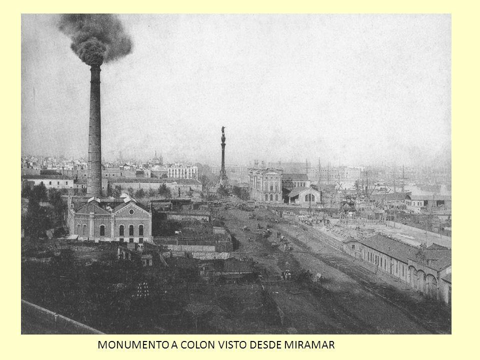 MONUMENTO A COLON VISTO DESDE MIRAMAR