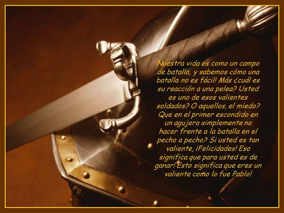 Esto demuestra, que a partir de los primeros hasta los últimos días de la final de la carrera terrenal del cristiano, debe prepararse para PELEAR LA BUENA BATALLA.