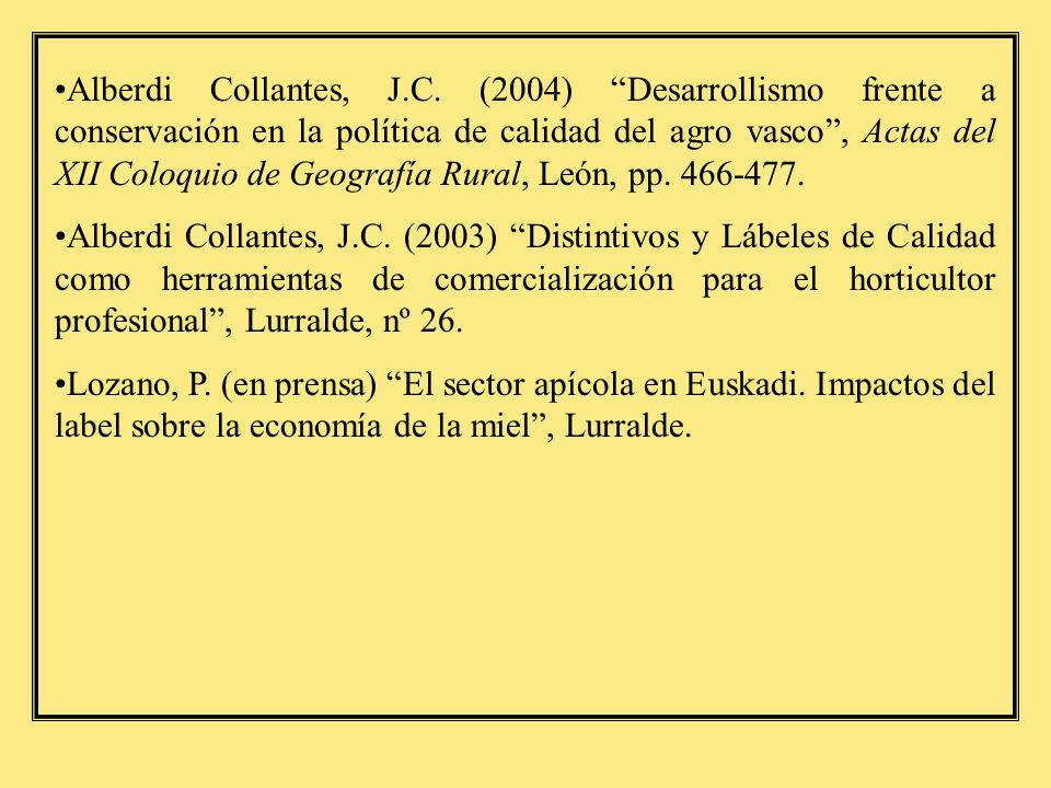 Trabajos de investigación realizados dentro del Curso de Doctorado Aramburu, D.