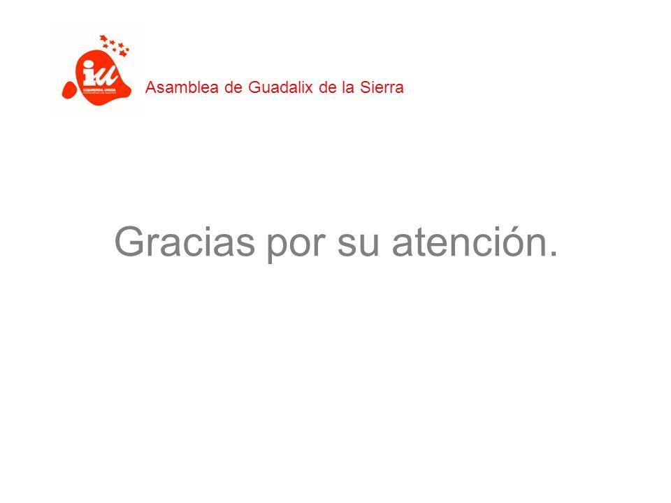 Gracias por su atención. Asamblea de Guadalix de la Sierra