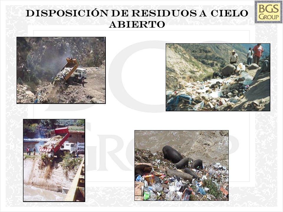 7 Disposición de residuos a cielo abierto