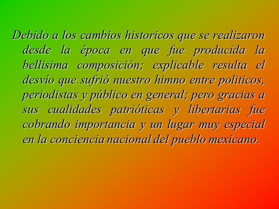 Don Jesús C. Romero analiza el texto del Himno y nos dice : Ahora sólo es la patria la razón de ser del himno; el culto a ella y el motivo para cantar